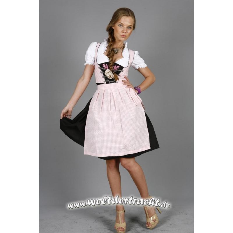 rosa kariertes mini dirndl mit rosa stickereien 3tlg 34 36 38 40 42 44 46 48 50 ebay. Black Bedroom Furniture Sets. Home Design Ideas