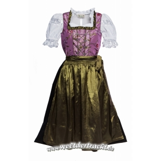 midi dirndl lila mit blumen bestickt schwarzem rock und. Black Bedroom Furniture Sets. Home Design Ideas